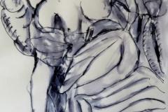 Staute at Chiesa San Ignacio, ink, 30 x 32 cm, 8.25 x 11.75 quality paper