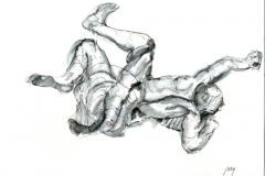 Staute Crawls at Chiesa San Ignacio, ink 30 x 32 cm, 8.25 x 11.75 quality paper
