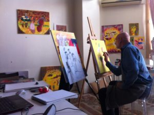 At work in my studio in Valencia