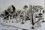Parque Cultural, Valencia, pen and ink on quality paper, A4, 8.25 x 11.5