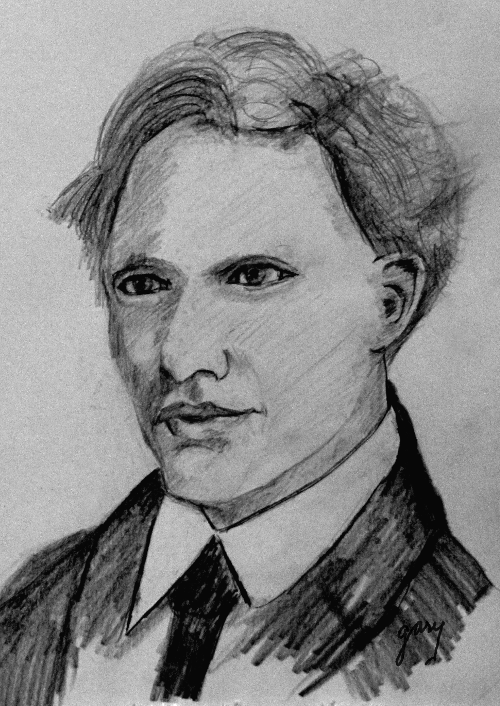 Van Gogh As Young Man, pencil
